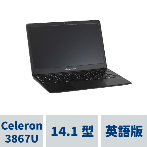 TSNB14UP1/BK/US/M - Celeron 3867U ノートPC 64GB(SSD) Windows10 Pro(英語) ※春の大感謝祭!