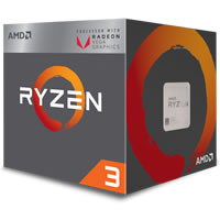 AMD Ryzen 3 2200G with Wraith Stealth cooler (YD2200C5FBBOX)