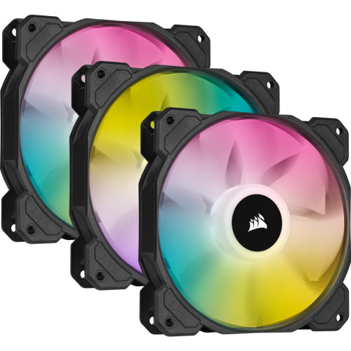 iCUE SP120 RGB ELITE with iCUE Lighting Node CORE Triple Pack CO-9050109-WW