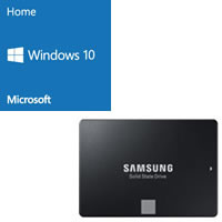 Windows 10 Home 64bit DSP版 DVD-ROM 紙スリーブ版 + SAMSUNG 860 EVO MZ-76E500B/IT セット
