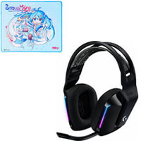 G733 LIGHTSPEED Wireless RGB Gaming Headset G733-BK (ブラック) セット