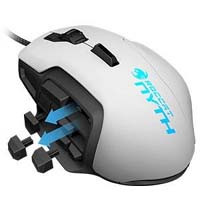 NYTH - MODULAR MMO GAMING MOUSE White ROC-11-901-AS 《送料無料》