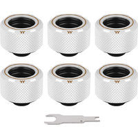 Pacific C-Pro G1/4 PETG 16mm OD 6 Pack White (CL-W211-CU00WT-B) 《送料無料》