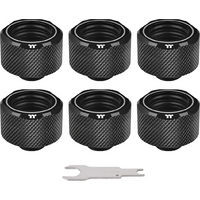Pacific C-Pro G1/4 PETG 16mm OD 6 Pack Black (CL-W214-CU00BL-B) 《送料無料》