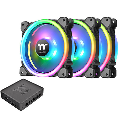 Thermaltake Riing Trio Plus 12 RGB 3Pack CL-F072-PL12SW-A(3個パック)