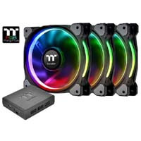 Riing Plus 14 RGB Radiator Fan TT Premium Edition CL-F056-PL14SW-A(3個パック) ※ツクモの日祭! 《送料無料》