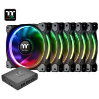 Thermaltake Riing Plus 14 RGB Radiator Fan TT Premium Edition CL-F057-PL14SW-A(5個パック)