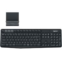 K375s Multi-Device Bluetooth Keyboard + Stand combo (ブラック/グレー)