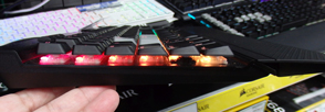 K70 RGB MK.2 LOW PROFILE RAPIDFIRE 横から
