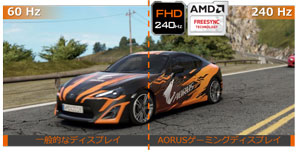 フルHD with 240Hz